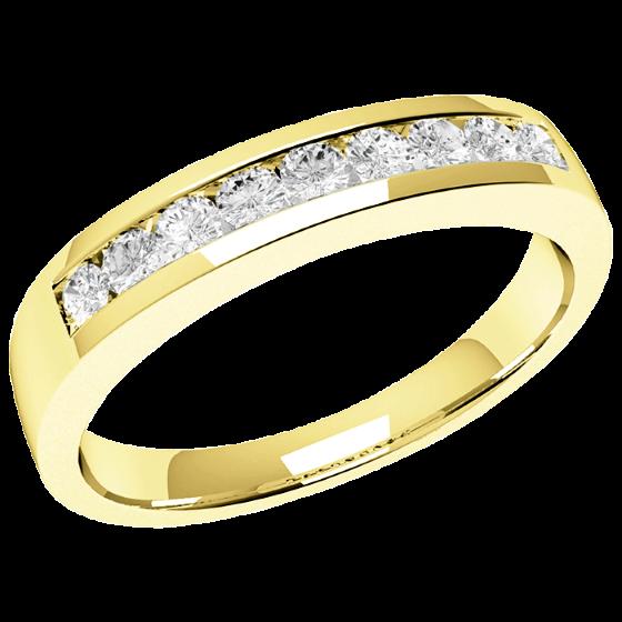 Halb Eternity Ring für Dame in 18kt Gelbgold mit 9 runden Brillanten in Kanalfassung-img1
