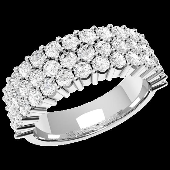 Inel Semi Eternity Dama Platina cu 43 Diamante Rotund Briliant in Setare Gheare-img1
