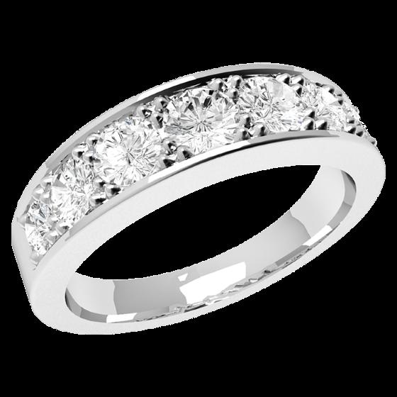 Halb Eternity Ring für Dame in Platin mit 7 Brillanten in Krappenfassung-img1