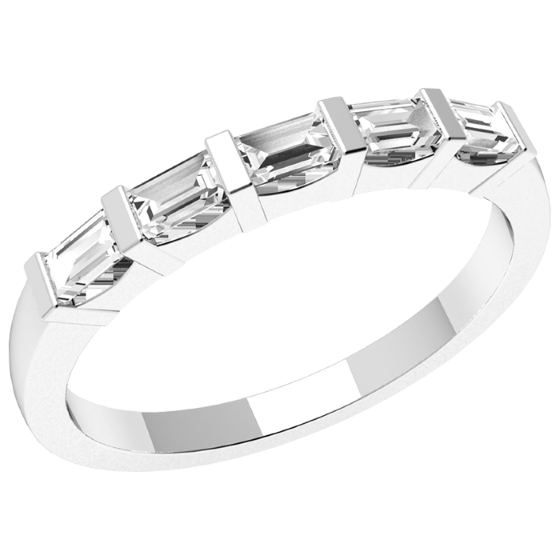 eternity band diamond platinum baguette bands
