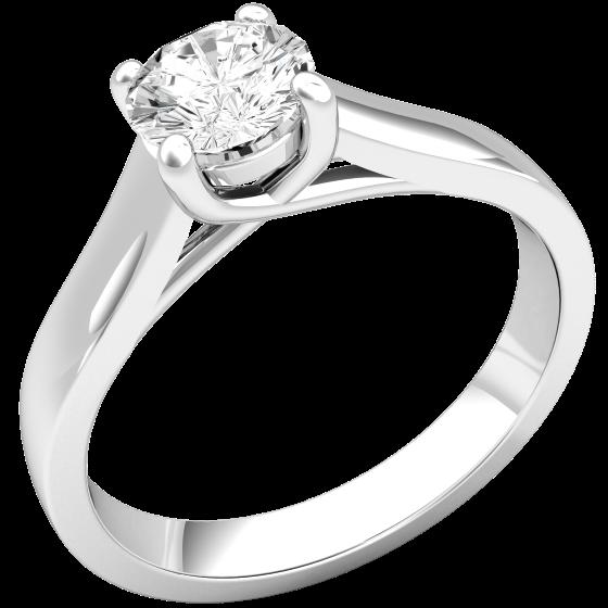 Solitär Verlobungsring für Dame in 18kt Weißgold mit einem Brillantschliff Diamanten-img1