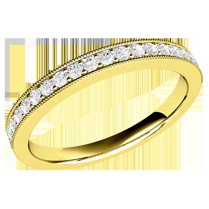 Verigheta Cu Diamant Inel Eternity Dama Aur Galben 18kt Cu 19