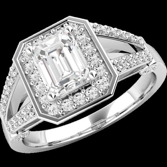 Cocktail Ring Mit Diamanten Verlobungsring Im Cluster Stil Fuer Dame
