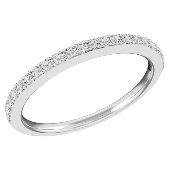 PD547PL - Platinum 1.6mm wide eternity/wedding ring with 24 round brilliant cut diamonds in a claw setting-img1