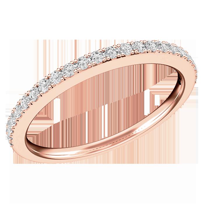 Verigheta Inel Eternity Dama Aur Roz 18kt Cu 24 Diamante Rotund