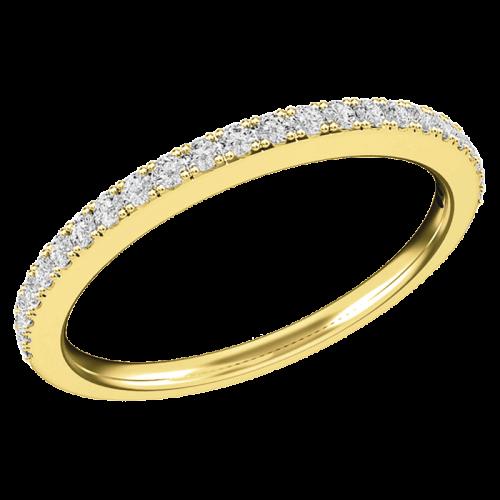 Verigheta/ inel Eternity Dama Aur Galben 18kt cu 24 Diamante Rotund Briliant-img1