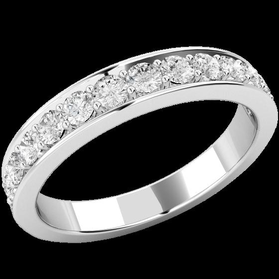 Halb Eternity Ring für Dame in Platin mit 13 runden Brillanten in Krappenfassung-img1