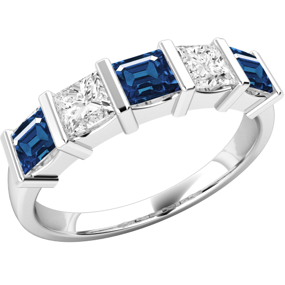 065b708c3682d Sapphire and Diamond Eternity Ring for Women in 18ct white gold with ...
