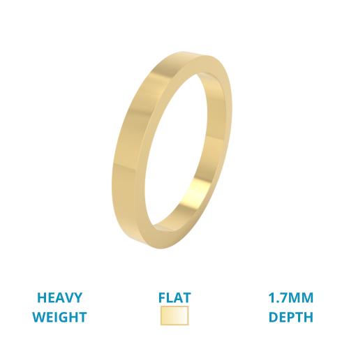 Verigheta Simpla Dama Aur Galben 18kt greutate Mare Lustruita Profil Plat-img1