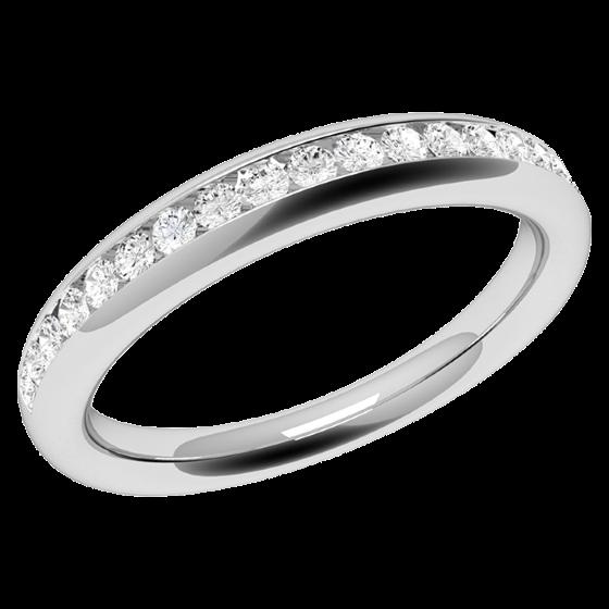RDW080W1 - 18kt Weissgold Eternity/ Ehering mit 17 runden Diamanten in Kanalfassung-img1