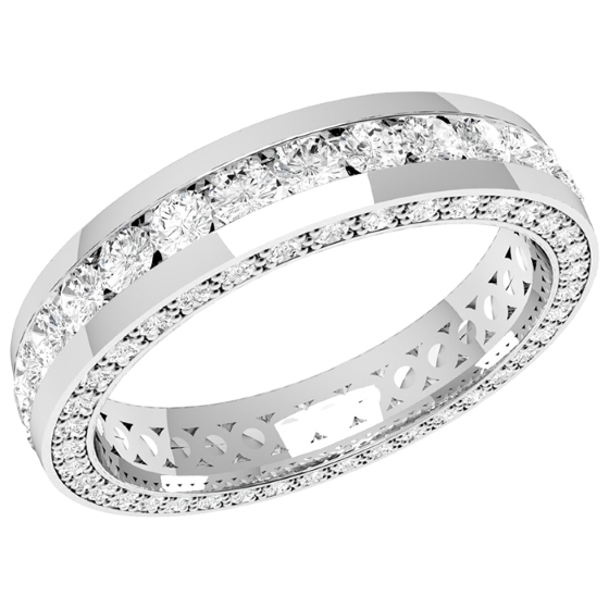 Full Eternity RingDiamond set wedding ring for women in platinum
