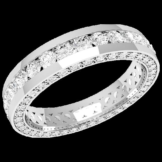 Full Eternity RingDiamond set wedding ring for women in 18ct white