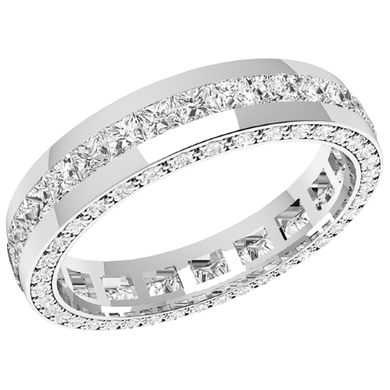 Diamond Rings RDW095PL platinum 40mm full eternitywedding ring