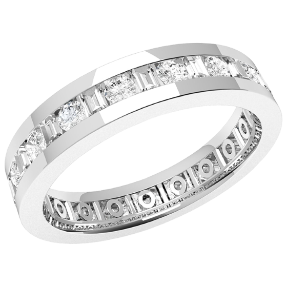 Full Eternity Ring Diamond set wedding ring for women in platinum with altern