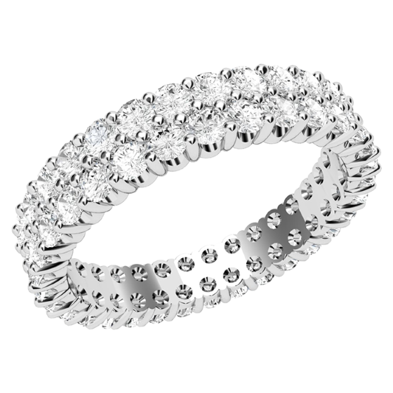 Full Eternity Ring Diamond set wedding ring for women in platinum set with ro