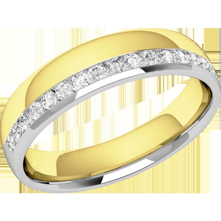 Verigheta Cu Diamant Dama Aur Alb Si Aur Galben 18kt Cu 17 Diamante