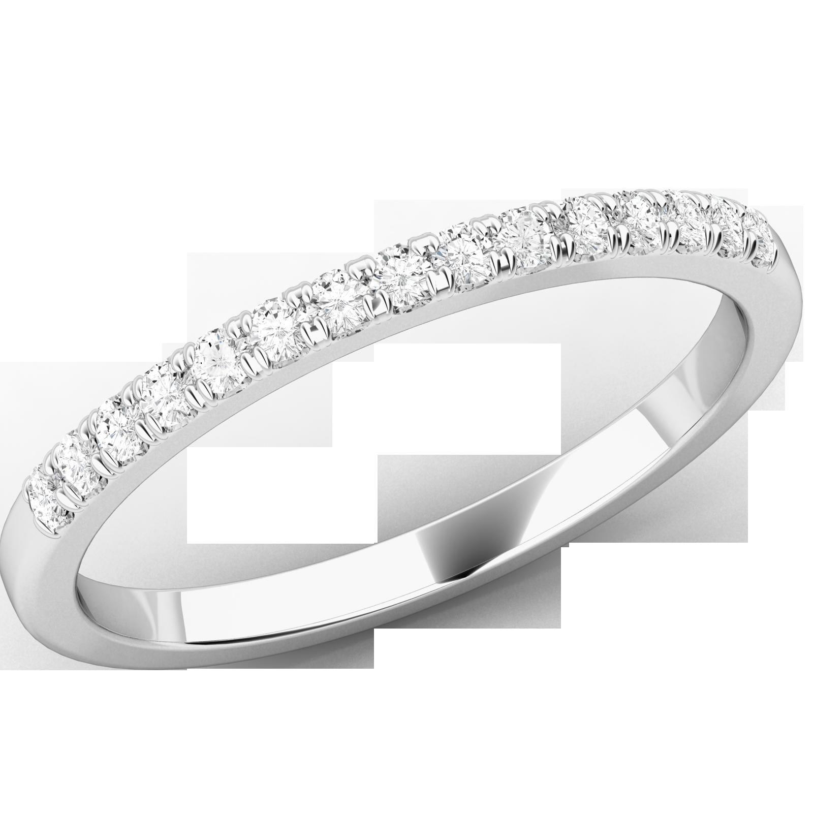 Verigheta Cu Diamant Inel Eternity Dama Aur Alb 18kt Cu 15 Diamante