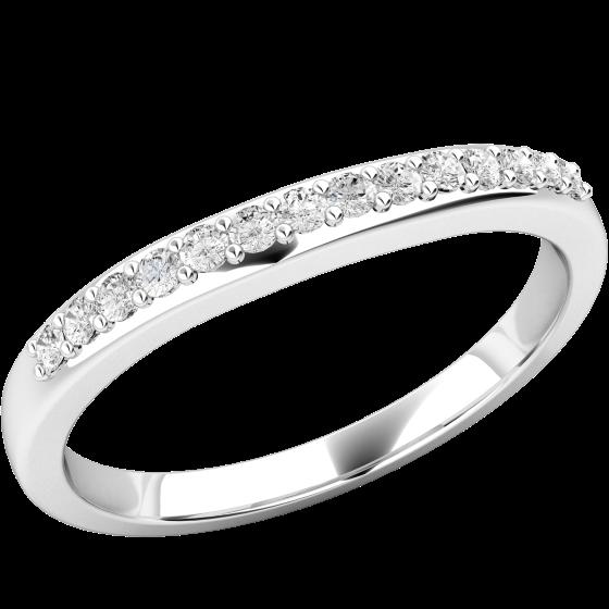 Verigheta cu Diamant/ Inel Eternity Dama Aur Alb 18kt cu 14 Diamante Rotund Briliant-img1