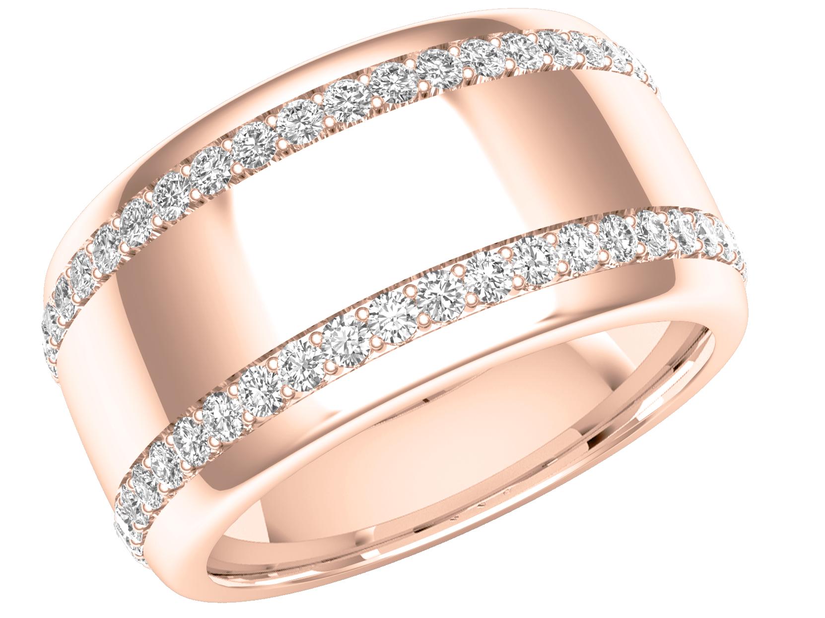 Verigheta Cu Diamantinel Eternity Dama Aur Roz 18kt Cu Doua Randuri