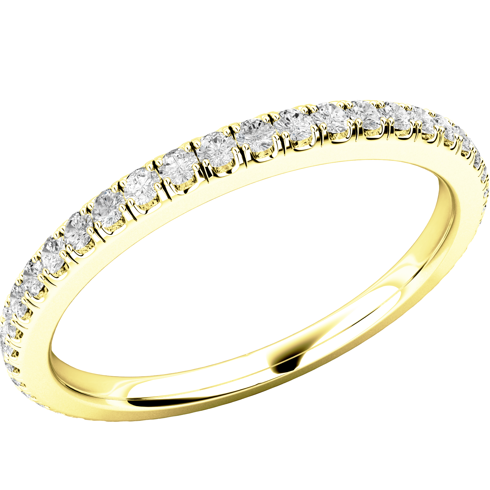 Verigheta cu Diamant/ Inel Eternity Dama Aur Galben 18kt cu Diamante Rotund Briliant in Setare Gheare pe toata Banda-img1