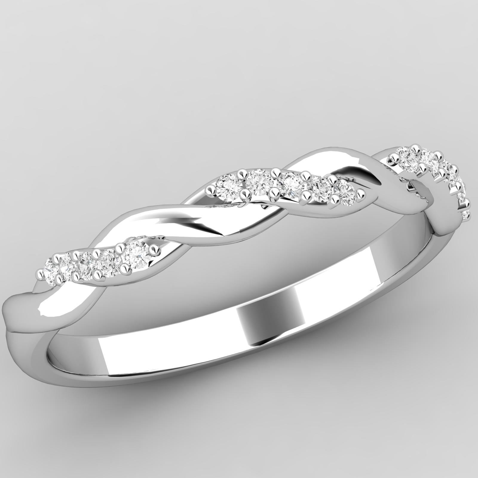 Verigheta Cu Diamant Inel Eternity Dama Platina Cu Briliante