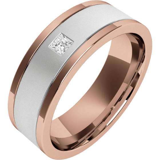 diamonds zoom ring il tone band with listing rose wedding mens gold brushed bands