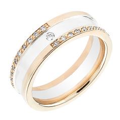 Verigheta cu Diamant Dama Aur Alb & Aur Roz 18kt cu Diamante Forma Rotund Briliant in Stoc