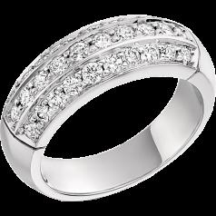 RD194W -Inel aur alb 18kt cu diamante rotunde brilliant, setare pavata