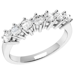 RD253W - 18kt Weissgold Ring mit 7 runden Brillant Schliff Diamanten