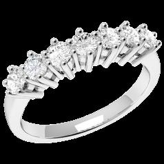 RD253W - 18kt aur alb inel cu 7 diamante rotunde brilliant
