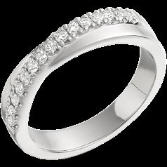 RD261PL - Inel din platină cu 15 diamante tăietura rotund brilliant