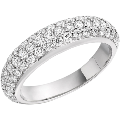 RD298W - 18ct white gold dress ring with round diamonds in a pave setting