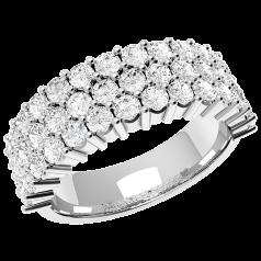 RD301PL - Platin Ring mit 43 runden Brillanten in Krappenfassung