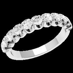 RD344PL1- 950 Platin Eternity Ring mit elf runden Brillanten in Krappenfassung
