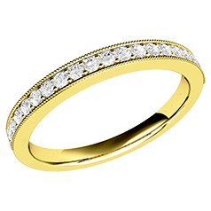 Verigheta cu Diamant / Inel Eternity Dama Aur Galben 18kt cu 19 Diamante Rotund Briliant in Setare Gheare