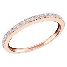 Verigheta/ inel Eternity Dama Aur Roz 18kt cu 24 Diamante Rotund Briliant