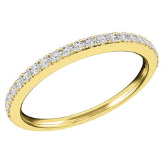 Verigheta/ inel Eternity Dama Aur Galben 18kt cu 24 Diamante Rotund Briliant