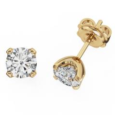 Cercei Tip Stud Aur Galben 18kt cu Diamant Rotund Briliant