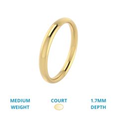 Verigheta Simpla Dama Aur Galben 18kt Greutate Medie Lustruita Profil Rotunjit