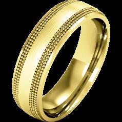 Verigheta Simpla Dama Aur Galben 18kt Greutate Mare Finisaj Lustruit si Periat Stil Milgrain