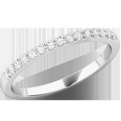 Verigheta cu Diamant/ Inel Eternity Dama Aur Alb 18kt cu 15 Diamante Rotunde in Setare Gheare