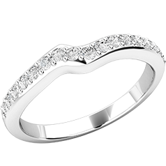 Verigheta cu Diamant/ Inel Eternity Dama Aur Alb 18kt cu Diamante Rotund Briliant in Setare Gheare