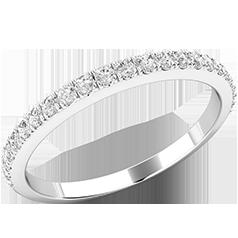 Verigheta cu Diamant/ Inel Eternity Dama Aur Alb 18kt cu 23 de Diamante Rotund Briliant in Setare Gheare