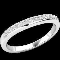 Verigheta cu Diamant/ Inel Eternity Dama Aur Alb 18kt cu 14 Diamante Rotund Briliant