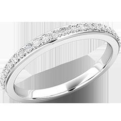 Verigheta cu Diamant/ Inel Eternity Dama Aur Alb 18kt cu 25 de Diamante Rotund Briliant in Setare Gheare