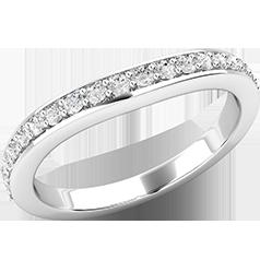 RDW178W-Verigheta cu Diamant/ Inel Eternity Dama Aur Alb 18kt cu 21 Diamante Rotund Briliant