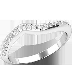 Verigheta cu Diamant/ Inel Eternity Dama Aur Alb 18kt cu 25 de Diamante Mici Rotund Briliant in Setare Gheare