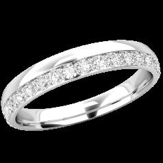 Verigheta cu Diamant/Inel Eternity Dama Platina cu Diamante Mici Rotund Briliant in Setare Gheare