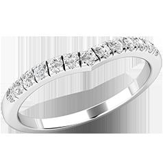 Verigheta cu Diamant/ Inel Eternity Dama Aur Alb 18kt cu 13 Diamante Rotund Briliant