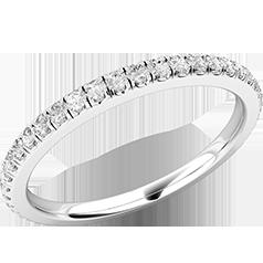 Verigheta cu Diamant/ Inel Eternity Dama Platina 950 cu Diamante Rotund Briliant in Setare Gheare pe toata Banda